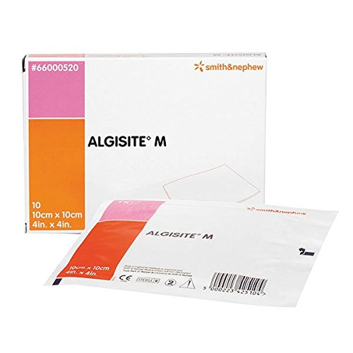 Smith & Nephew Algisite M Calcium Alginate Wound Dressing, 10cm x 10cm, Pack of 5