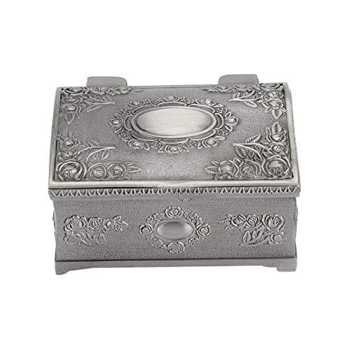 Caja de la joyería, metal de escritorio del gabinete del maquillaje de la caja de los pendientes decorativo para los anillos para los pendientes