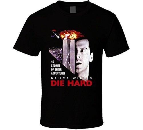 Die Hard Bruce Willis Retro Action Movie T Shirt XL Black