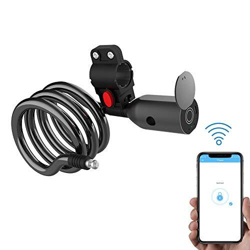 eLinkSmart App Fahrradschloss Stahlseilschloss Elektrisches Fahrradschloss Mountainbike Diebstahlsicherung USB-Ladbare Rennrad Stahlseilschloss
