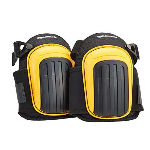 AmazonCommercial Knieschoner mit hochwertiger Gelpolsterung, 22,8 cm, Schwarz, 1 Paar