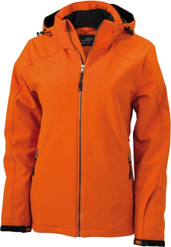 J&N - Damen Wintersport-Jacke (JN1053), Dunkelorange, Gr. XL
