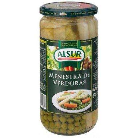 Menestra De Verduras Alsur Frasco 660 G Primera