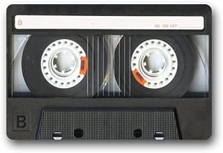 Doormat Fashion Vintage Retro Cassette Tape Entrance Indoor/Outdoor Floor Door Mats Welcome 23.6