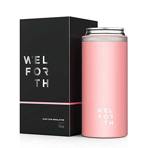 Welforth Slim Can Cooler, Can Insulator, Thermocoolers with exquisite box for 12oz Skinny Can (MATTE...