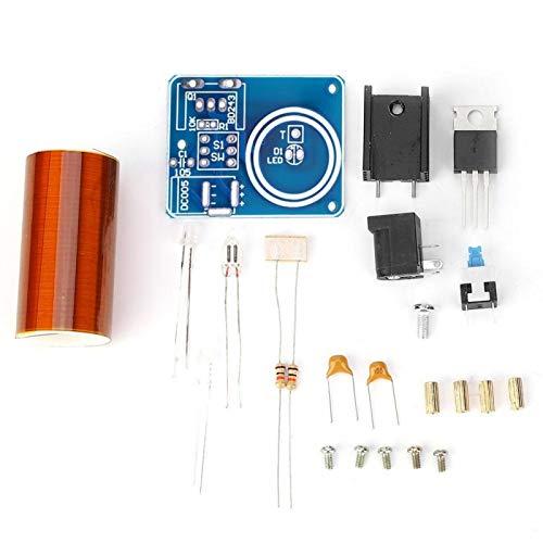 Kit elettronico fai da te, bella bobina Tesla durevole e sicura e affidabile, trasmette l'elettricità senza fili per accendere (Spare part).