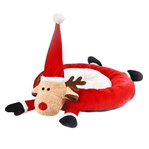 Huisdier hondenbed Deluxe Traditionele orthopedische deurmat Kerstmis rendier vorm trapschuim voetmat vlecht huisdierbed