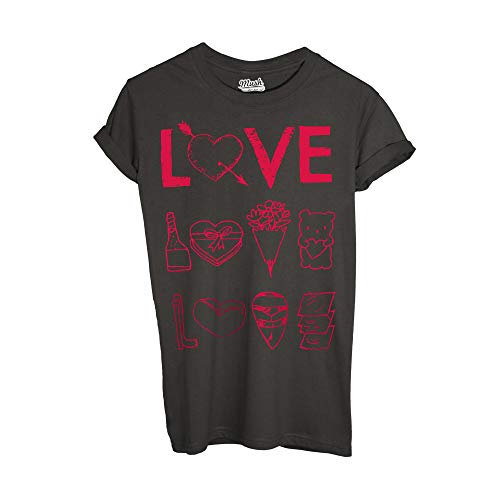 MUSH T-Shirt Love Serie TV Netflix Icons - Film by Dress Your Style - Uomo-M-Marrone