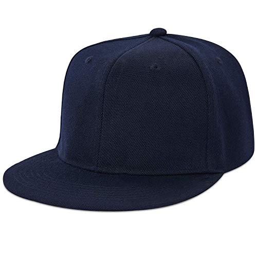 LIVACASA Basecap Snapback Herren Kappe Unisex Verstrellbar Baseball Cap für Damen Baseballkappe Sonnenschutz Täglich Cap Cappy in 6 Farben Blau