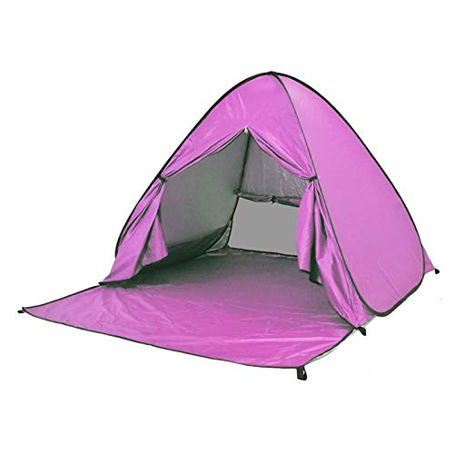 ZLOP Tienda de campaña de protección UV, tienda de playa, tienda de campaña para exteriores, portátil, protección UV, tienda de playa para familia, playa, jardín, camping (1 unidad, color rosa)