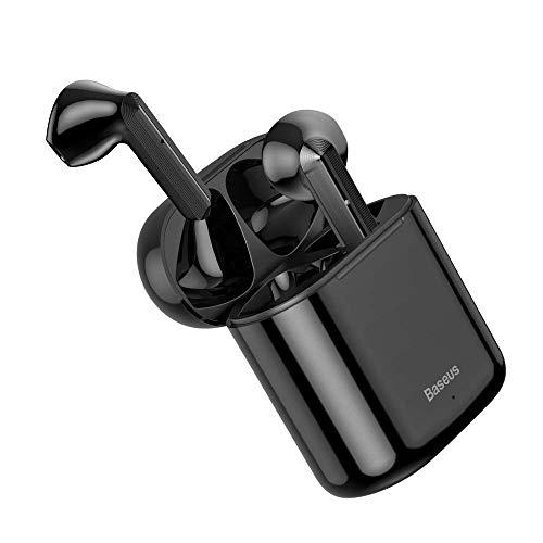 Baseus w09 tws fone de ouvido sem fio bluetooth 5.0 mini fones com caixa carregamento esportes estéreo (PRETO)