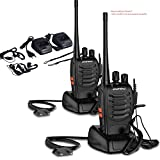 OCDAY Walkie Talkie Ricetrasmittente, Walkie Talkie BAOFENG BF-888S 16 Canali Walkie Talkie FM VHF/UHF...