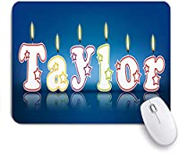 Mabby マウスマット ゲーミング オフィス マウス パッド,TAYLOR written with burning candles,Non-Slip Rubber Base Mousepad for Laptop Computer PC Office,Cute Design Desk Accessories