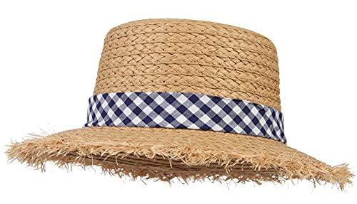 GEMVIE-Sombrero de Paja Niño Sombrero Paja Bebe Verano Protección Solar UPF50+ Gorra Playa Niña