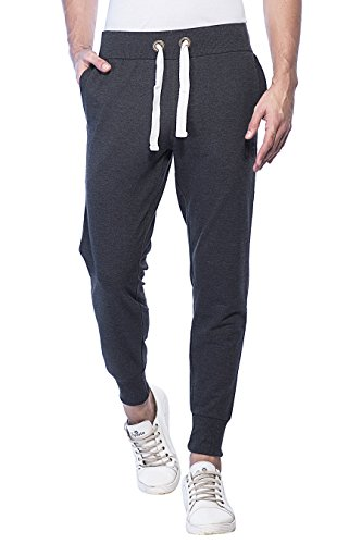 Alan Jones Clothing Men's Fleece Track Pant (JOG17-86-DGREY-XXL, Dark Grey, XX-Large)