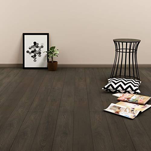 SOULONG PVC Klickboden Dielen Laminatboden Terrassendielen Bodenbelag für alle Arten von festen und Ebenen Oberflächen, 91,4 x 15,2 cm, Stärke 3 mm, 4,46 m², Dunkelbraun