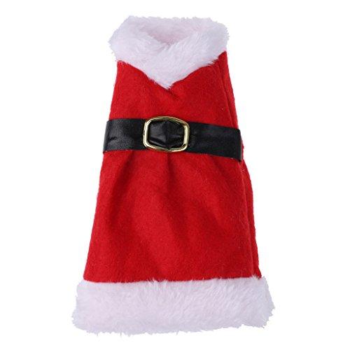 PETSOLA Vestido de Navidad Rojo Funda para Botella de Vino Bolsa para Envolver Regalos Adorno de 18 Cm