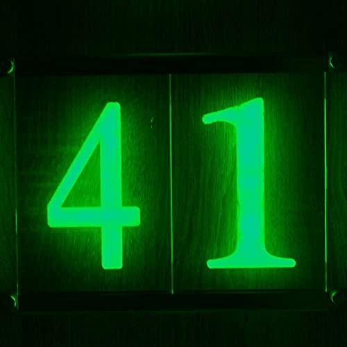 Hausnummer 10 - 99 beleuchtet OHNE...