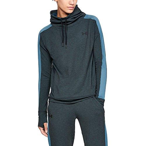 Under Armour Damen Featherweight Fleece Funnel Langarmshirt Featherweight Fleece Funnel, Blau (Static/Halogen Blue), XL (Herstellergröße: XL)