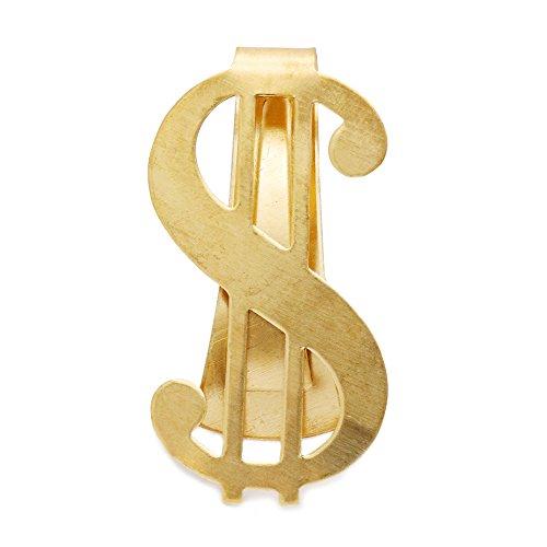 アクセサリーショップピエナ メンズ マネークリップ ゴールド $ ドルマーク シンプル 艶やか クール money clip オシャレ 海外旅行に