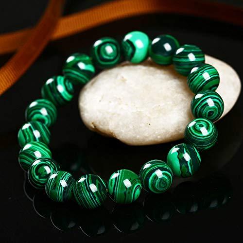 HMKLN Higth Calidad Moda Verde Malaquita Hombres Pulseras y Brazalete para Las Mujeres Crystal Charm Bracelet Budista Beads Regalo de Cumpleaños