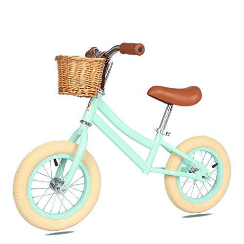 """UNDERSPOR 12"""" Pedal-Menos Bicicleta de Equilibrio, Vespa de los niños, de Dos Ruedas Walker, para ejercer el Balance Capacidad de los niños pequeños,Verde"""