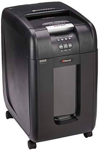 Rexel Auto+ 300X Aktenvernichter für Kleinbüros, Partikelschnitt, Autofeed, 40L Entnehmbarer Abfallbehälter, 300 Blatt Kapazität, Schwarz, 2103250EU