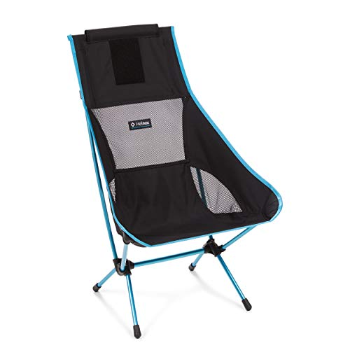 Helinox Chair Two Camping Chair 4 Bein(e) Schwarz, Blau, Grau - Campingstühle (Schwarz, Blau, Grau, Aluminium, 1,07 kg, 840 mm, 65 cm, 55 cm)