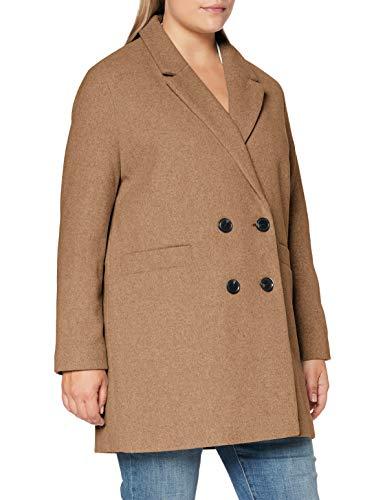 Pimkie MTW20 CSPHYNX Abrigo de Mezcla de Lana, marrón Claro, S para Mujer