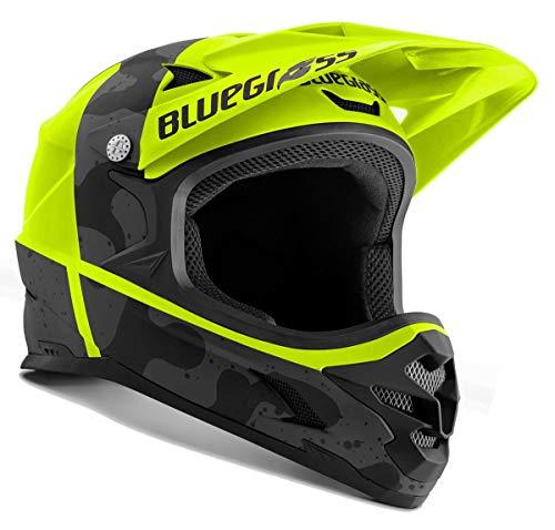 Casco de bicicleta Bluegrass Intox amarillo neón negro camu