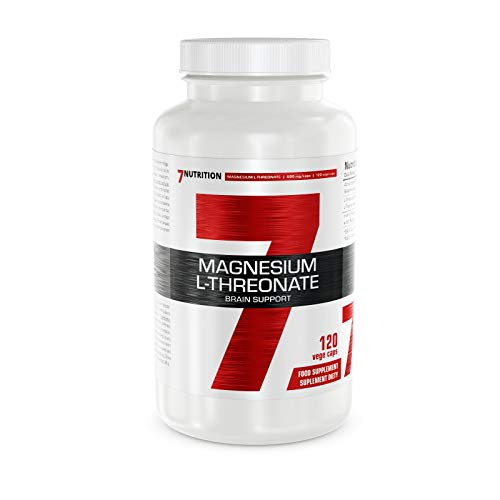7Nutrition Magnesium L-Threonate 600mg | 120 Vegetarian Capsules | Brain Support and Reduction of Tiredness | 1 Month Supply