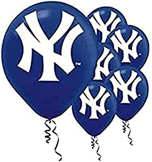 New York Yankees 30cm Latex Balloons 6ct [Health and Beauty] [Toy]
