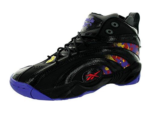Reebok hombres Shaqnosis OG Basketball zapatos, negro/Purple/amarillo/rojo/gris, 11 M US