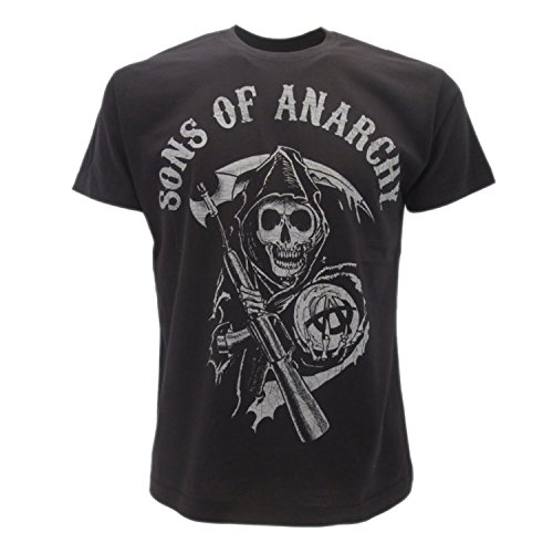 Sons of Anarchy - Camiseta original de Símbolo Muerto con falsa...