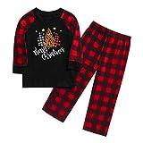 DreamedU Pijamas Navidad para Familias Pijama Mujer Hombre Niños Niña Invierno de Manga Larga Pijama Hombre Navidad Ropa de Dormir para Mamá Papá Niños