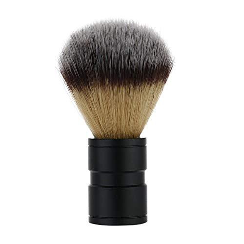 Frcolor 1pc poignée en alliage brosse en nylon rasage des cheveux des hommes brosse outil de salon rasage professionnel personnel (noir)