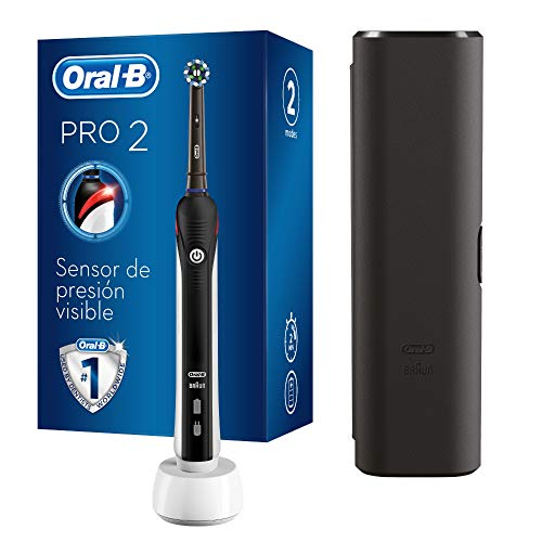 Oral-B PRO 2 2500 CrossAction Cepillo De Dientes Eléctrico, 1 Mango Negro...