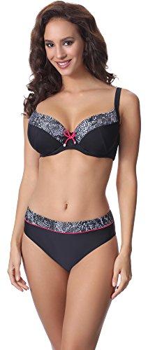 Merry Style Damen Bikini Set P63581 (Muster-v1, Cup 95 C/Unterteil 46)