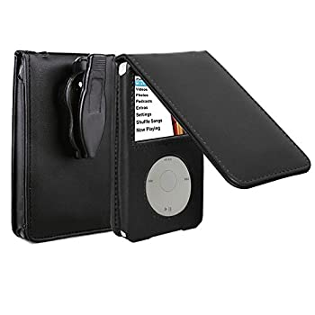 HAL V-TOP Leather Case for Apple iPod Video Classic 80G 120G 160G 60G Classic Protective with Movable Belt Clip Black