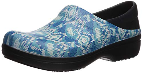 Crocs Women's Neria Pro II Clog| Slip-Resistant Work and Nursing Shoe, black/ikat, 6 M US