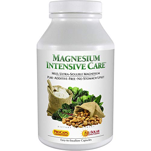 Andrew Lessman Magnesium Intensive Care 60 Capsules  200mg Mild Ultra-Soluble Magnesium, Supports Nerves, Muscles, Brain and Heart, No Additives, Gentle to Even The Most Sensitive Stomachs
