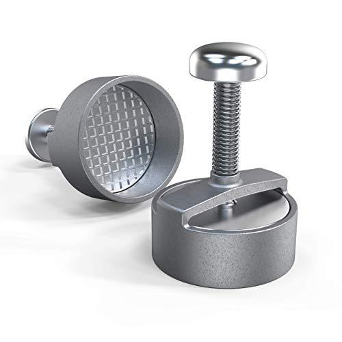 Prensa para hamburguesas profesional, diámetro de 100 mm, aluminio, expulsador de hamburguesas antiadherente, prensa de aluminio fundido para hamburguesas perfectas, molde para patatas y hamburguesas