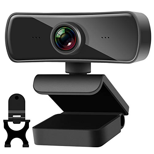 TechLead Webcam 2K, Kamera PC 4 Millionen Pixel mit Webcam Abdeckung, USB Plug & Play Webcam PC für Videochat und Aufnahme, kompatibel mit Windows, Mac und Android