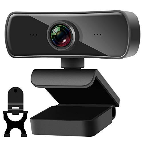 TechLead Webcam per PC, Webcam 2K 4 Milioni di Pixel Webcam con Microfono e Copertur, Web Cam HD con Autofocus, Plug And Play, Webcam per Videochiamate, Conferenza, Registrazione e GiochiGiochi