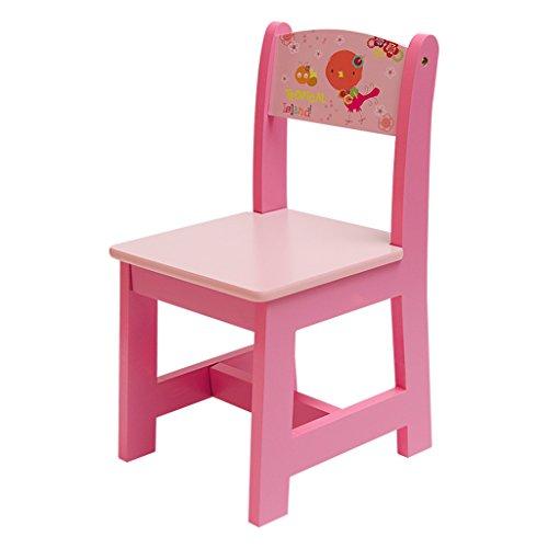 CKH Kinderstoel Anti-slip Thuis Eten Baby Kruk Cartoon Kleuterschool Rugleuning Stoel Effen Houten Voeten