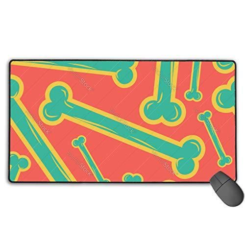 Mouse Pad Bones Nahtloses Muster Bone Ornament Medical 40 x 75 cm ultradünnes Mauspad verbessert Geschwindigkeit und Genauigkeit, rutschfeste Gummibasis