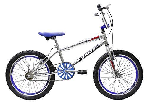 Bicicleta Aro 20 Bmx Cross Freestyle Cromada Aero Saidx (Azul)