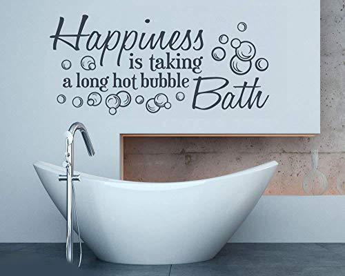 Geluk is het nemen van een lange Hot Bubble Bad Muurstickers voor tegel Badkamer Wall Art Pic Verwijderbare Waterdichte Muurstickers 90*40cm