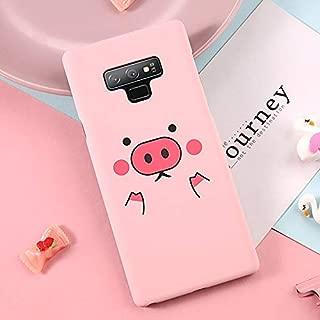 Maxlight Cartoon Pig Case for Samsung Galaxy S8 S9 Plus Love Heart Hard PC Phone Cover for Galaxy Note 9 Note 8 Cases (E, for Galaxy Note 9)
