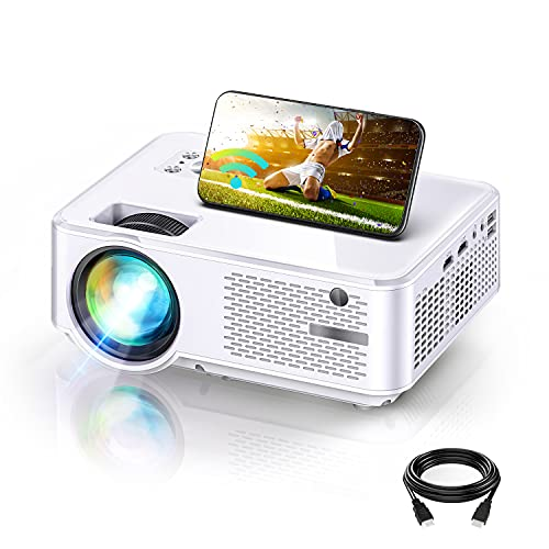 Proyector WiFi, Mini Proyector Portátil, 7000 Brillo, Soporta 1080p Full HD, Cine en Casa 300' Duplicar Pantalla para Android/Phone Smartphone Pad, HDMI/USB/VGA/AV, C9
